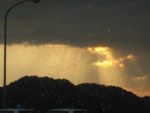 八幡浜港から見た夕暮れ