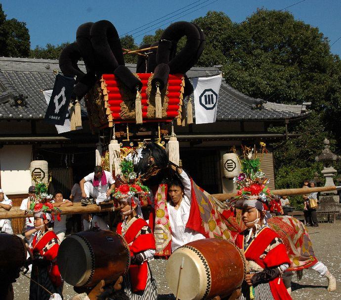 山本町「ちょうさ」秋祭り 097