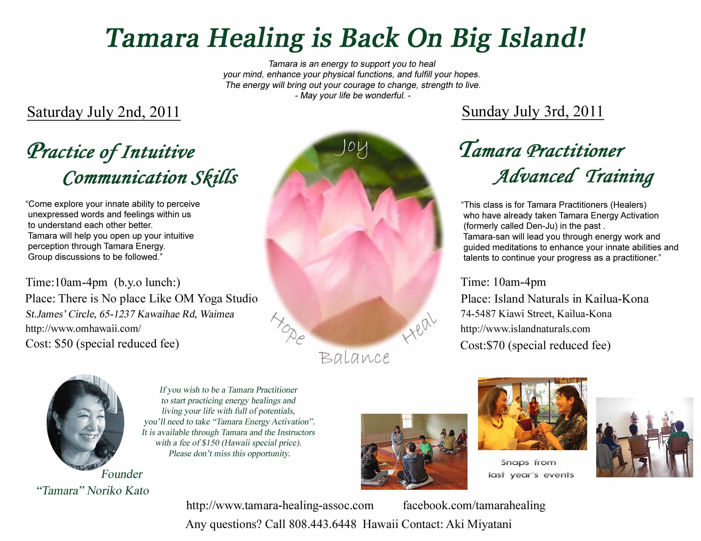 Tamara July2011 flyer.