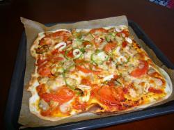 シーフードピザ(トマトソース)