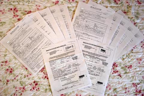 たくさんの書類