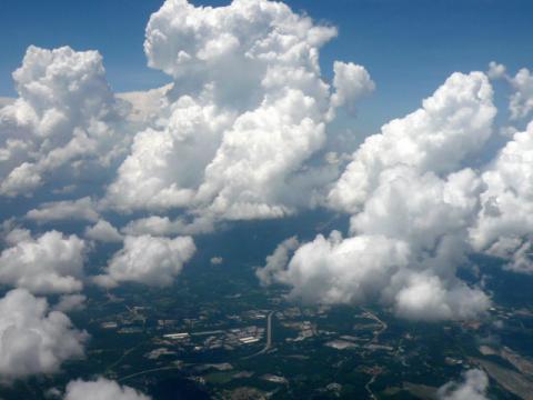 飛行機から・・・