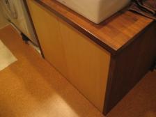 洗面台の扉(面合わせ)
