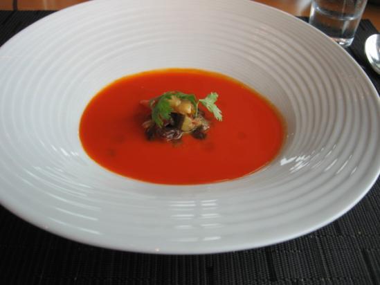 マンダリン ケシキ 人参と生姜のスープ