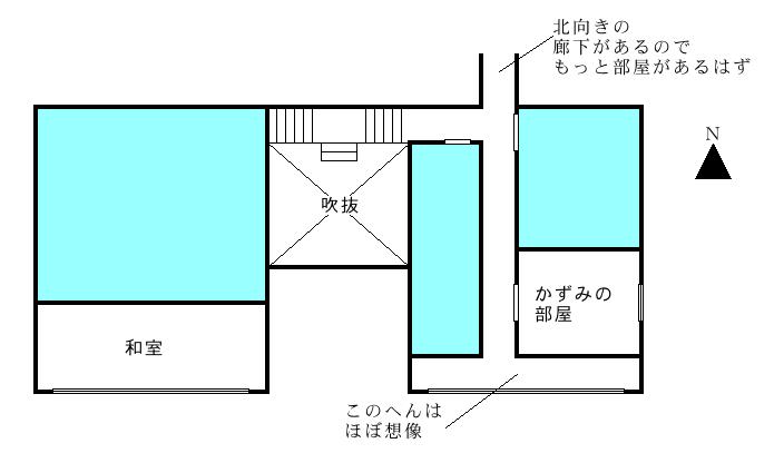 御崎邸2F間取り想像図 2012/04/10