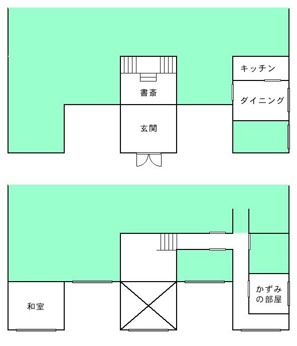 御崎邸間取り想像図修正版 2012/04/19
