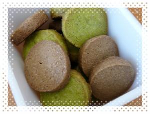 抹茶ほうじ茶クッキー1