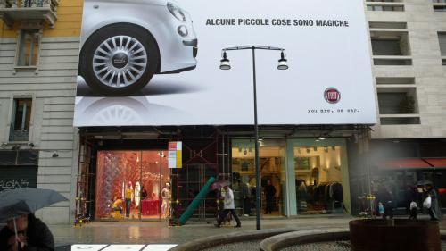 ミラノの看板