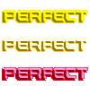 「PERFECT」素材
