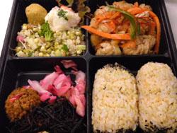 Hawaiian macrobiotic lunch box