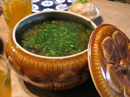 高菜漬けのスープ