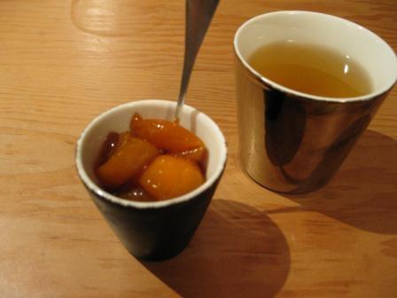 金柑の紅茶煮とはま茶