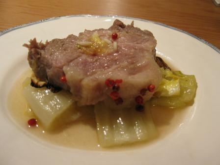 豚と白菜のロースト 仕上げにワインビネガー