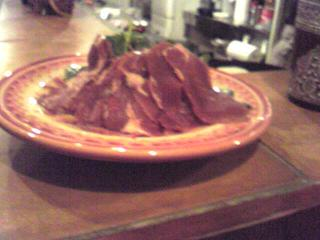 羊の生ハムとクレソンのサラダ