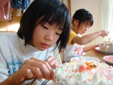2009年12月24日 クリスマスケーキ作り