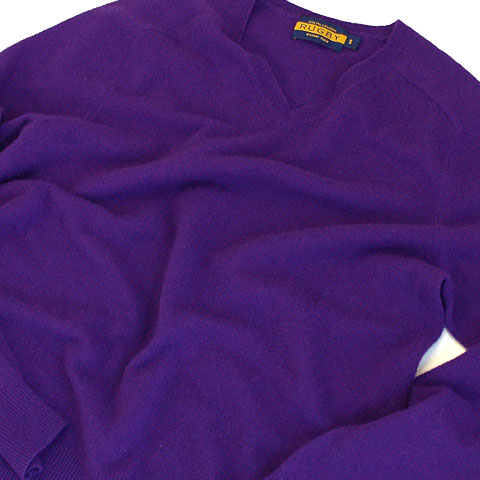 RUGBY CASHMERE V-NECK SWEATER