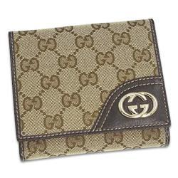 GUCCI LADIES NEW BRITT BE/DB 2つ折り財布