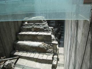 アステカの神殿の一部