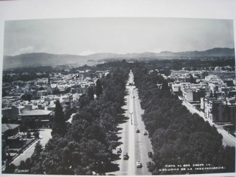 百年前のレフォルマ通り西側