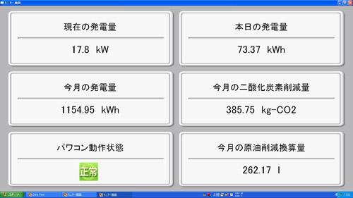 モニター画面!2011.7.10