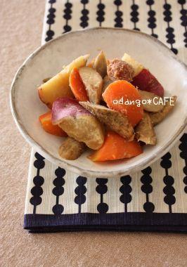 根菜の梅種みそ煮