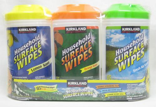 household surface wipes