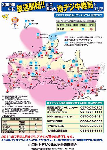 2011年7月24日までにアナログテレビ放送は終了