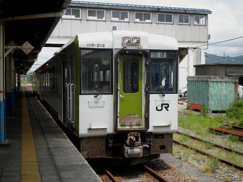 米坂線キハ110系(坂町駅)