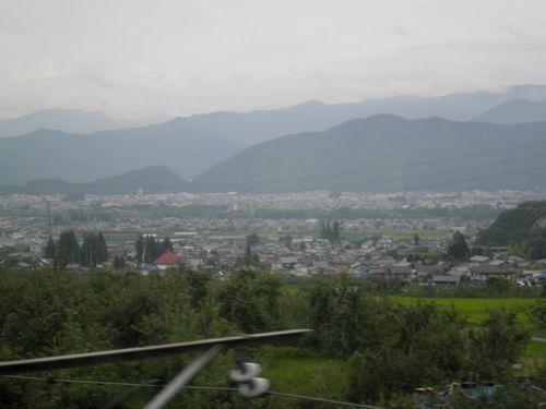 篠ノ井線姨捨付近・2011年7月27日