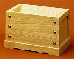 小型賽銭箱 栓材4寸