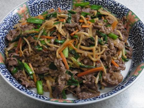 110918-010牛肉と野菜のオイスターソース炒め(縮小)