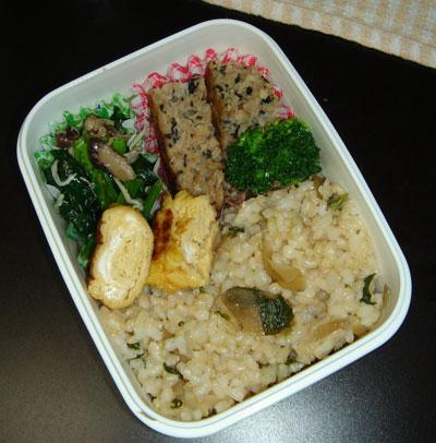 玄米 混ぜご飯のお弁当