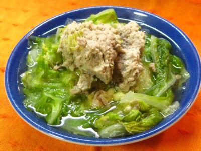 縮 白菜とひき肉なべ