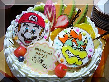 マリオ&クッパのケーキ