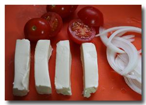 クリームチーズは棒状に。
