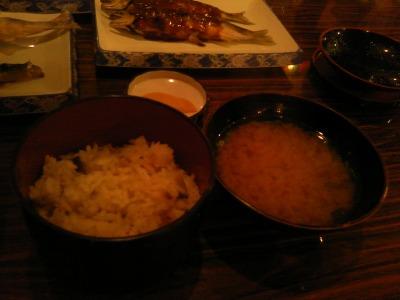 10月5日 鮎飯と味噌汁