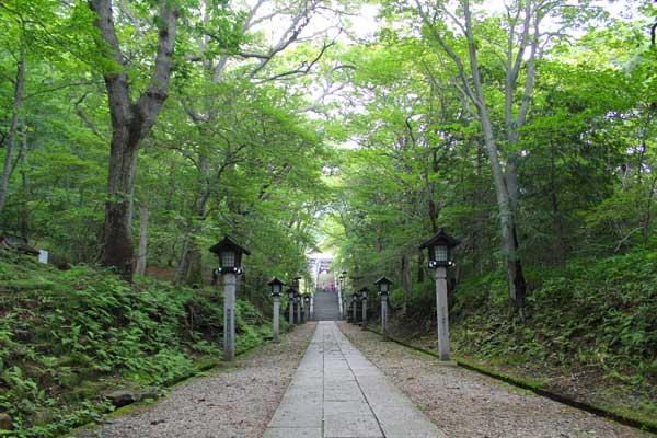 温泉神社参道