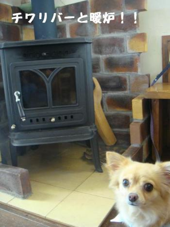 モンと暖炉