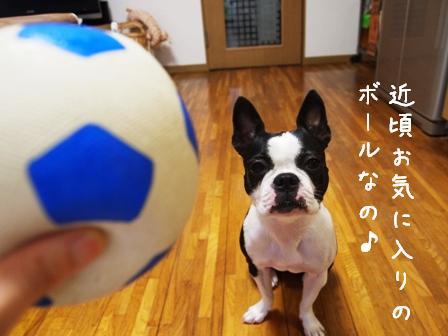 サッカーボール青1