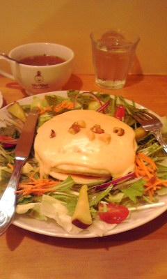 チーズフォンデュパンケーキ