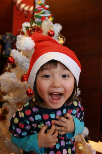 大きな声で、メリークリスマス!