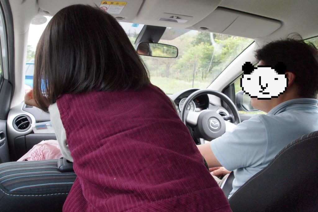 車の中から動物さんこんにちわ
