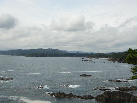 陸中海岸国立公園大船渡市周辺の眺め