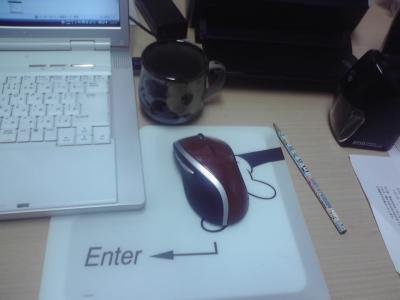 机の上にあるもの