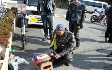 AROC元旦ミーティング AROC会長号+仙人自転車