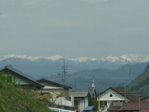 雪山とこいのぼり