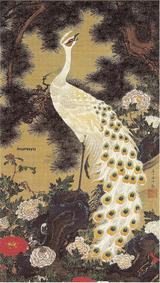 老松孔雀図