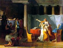 息子たちの遺骸をブルートゥスの許に運ぶ警吏たち ダヴィッド