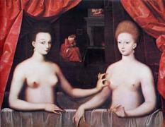 ブリエル・デストレとその妹 フォンテーヌブロー派