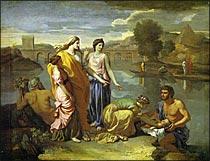 川から救われるモーセ
